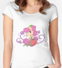Apple Rose  Women's Fitted Scoop T-Shirt