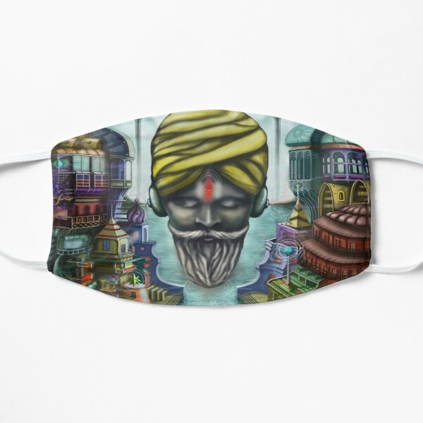 Young Sadhu listening Ambient Sounds Small Mask