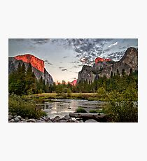 Valley View Sunset Photographic Print