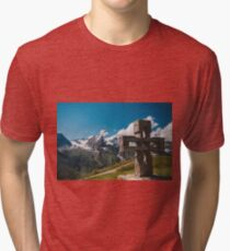 Alp Austria - Mountain - Kreuz Tri-blend T-Shirt