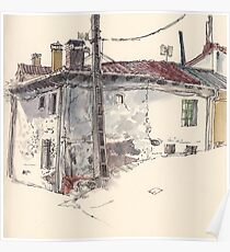 Valdecastro's house in Guardo Poster