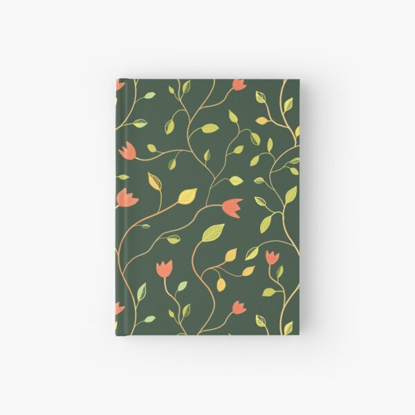 Floral greenery and red tulips Hardcover Journal
