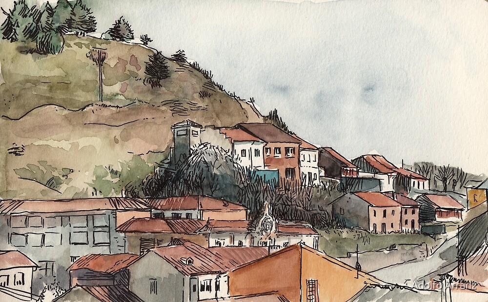 Guardo's houses by Adolfo Arranz