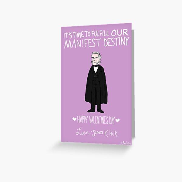James K. Polk Greeting Card