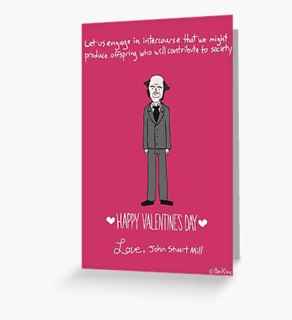 John Stuart Mill Greeting Card