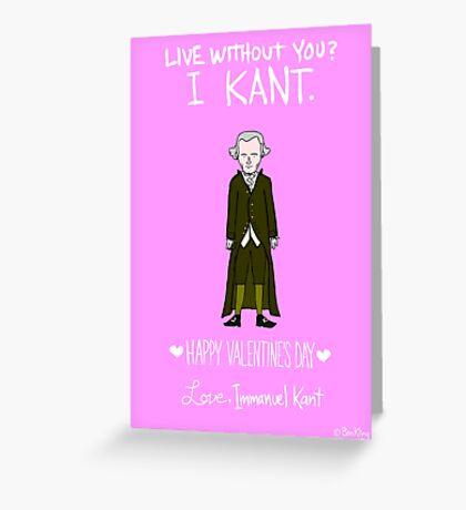 Immanuel Kant Greeting Card