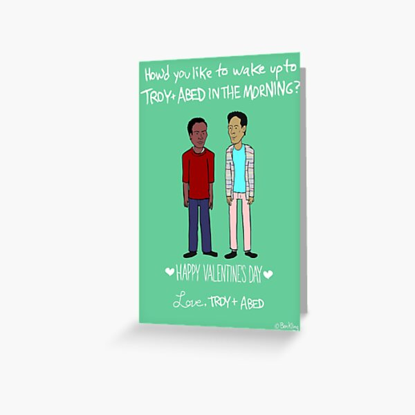 Troy and Abed Greeting Card
