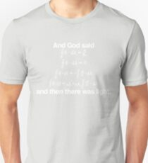 And God Said (Maxwell's equations) T-Shirt