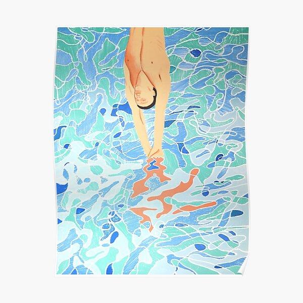 Swim Hockney Jump Poster