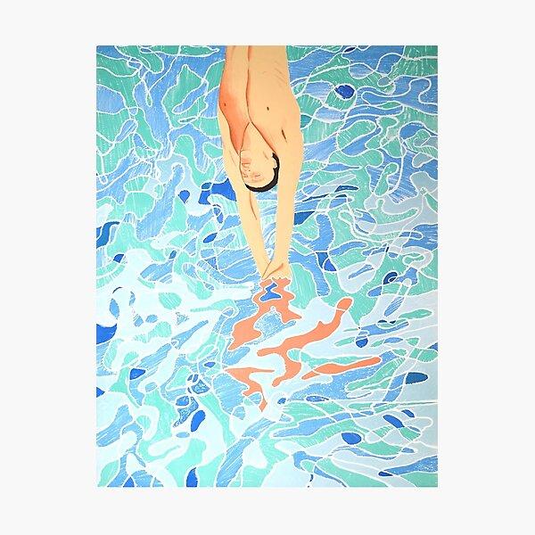 Swim Hockney Jump Photographic Print