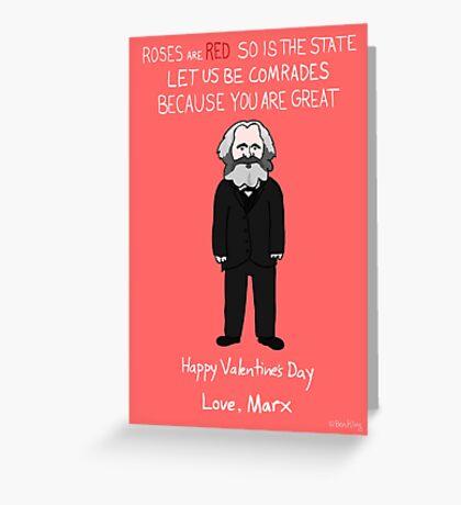 Karl Marx Greeting Card