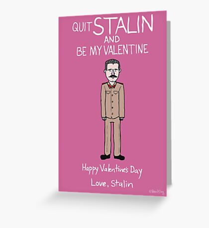 Josef Stalin Greeting Card