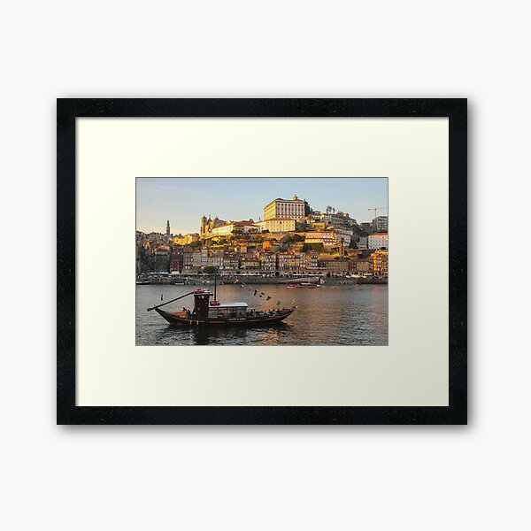 Sunset at Porto Framed Art Print
