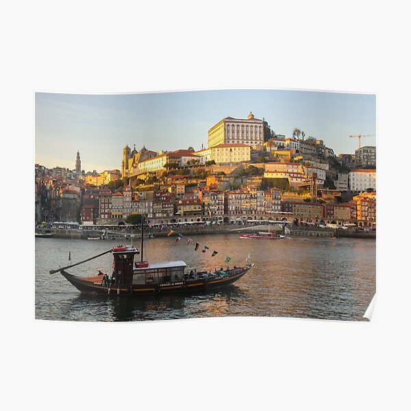 Sunset at Porto Poster