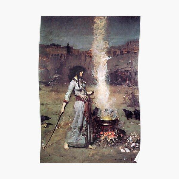 THE MAGIC CIRCLE - JOHN WILLIAM WATERHOUSE Poster