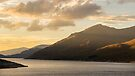 Last light Glen Cannich, Loch Cannich, Scotland by Cliff Williams