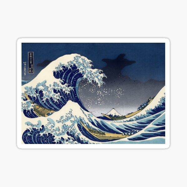 Great Wave: Kanagawa Night Sticker