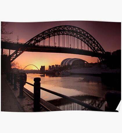 Tyne Bridge At Sunrise Poster