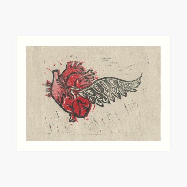 As the heart flies Art Print