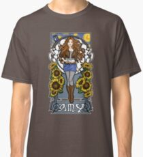 The Girl Who Waited (Amy on faded blue) Classic T-Shirt