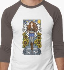 The Girl Who Waited (Amy on faded blue) Men's Baseball ¾ T-Shirt
