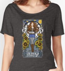 The Girl Who Waited (Amy on faded blue) Women's Relaxed Fit T-Shirt