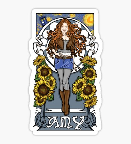 The Girl Who Waited (Amy on faded blue) Sticker