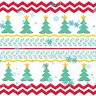 Christmas design with trees by RosiLorz