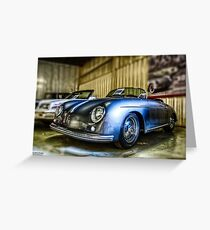 Porsche Speedster in HDR Greeting Card