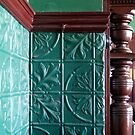 Old Pub, Pressed Metal Wall & Fireplace Mantle by Jane McDougall