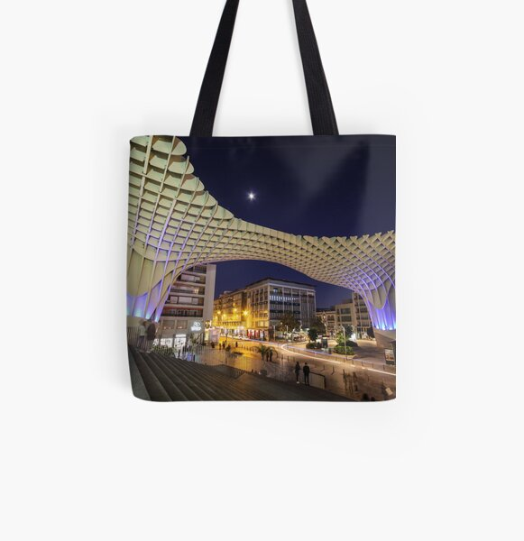 Seville at Night All Over Print Tote Bag