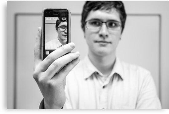 Mobile Phone Portrait by Heather Buckley