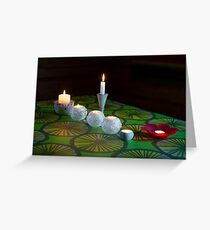 Seven Candles Greeting Card