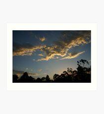Sunset at Glenorie Wildlife Refuge Art Print
