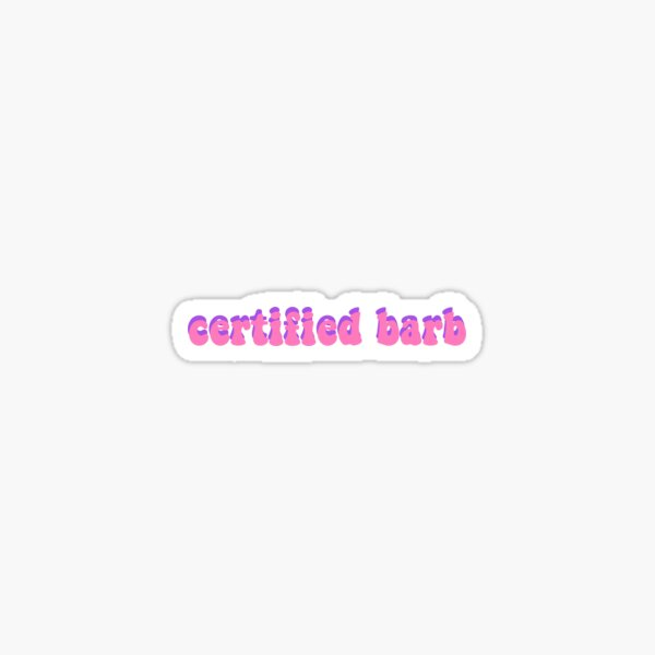certified barb Sticker