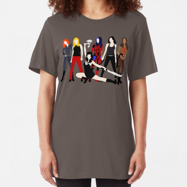 Women of the Whedonverse   Slim Fit T-Shirt