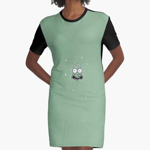 Pickle Rick Graphic T-Shirt Dress