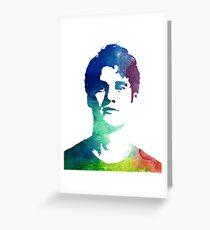 rainbow headshot Greeting Card