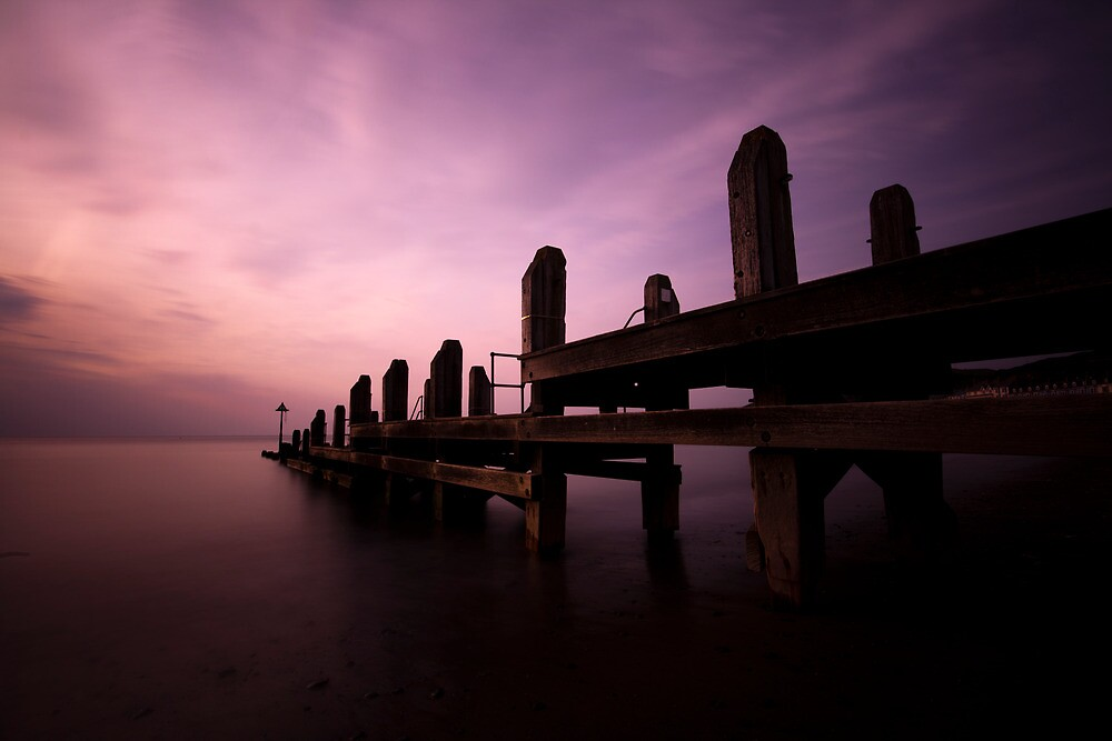 Sunset by the Jetty by David Cooper