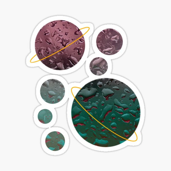 planets floating  Sticker