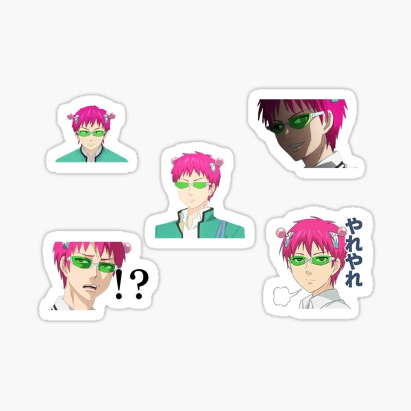 Disastrous Life of Saiki K. face pack mix Sticker