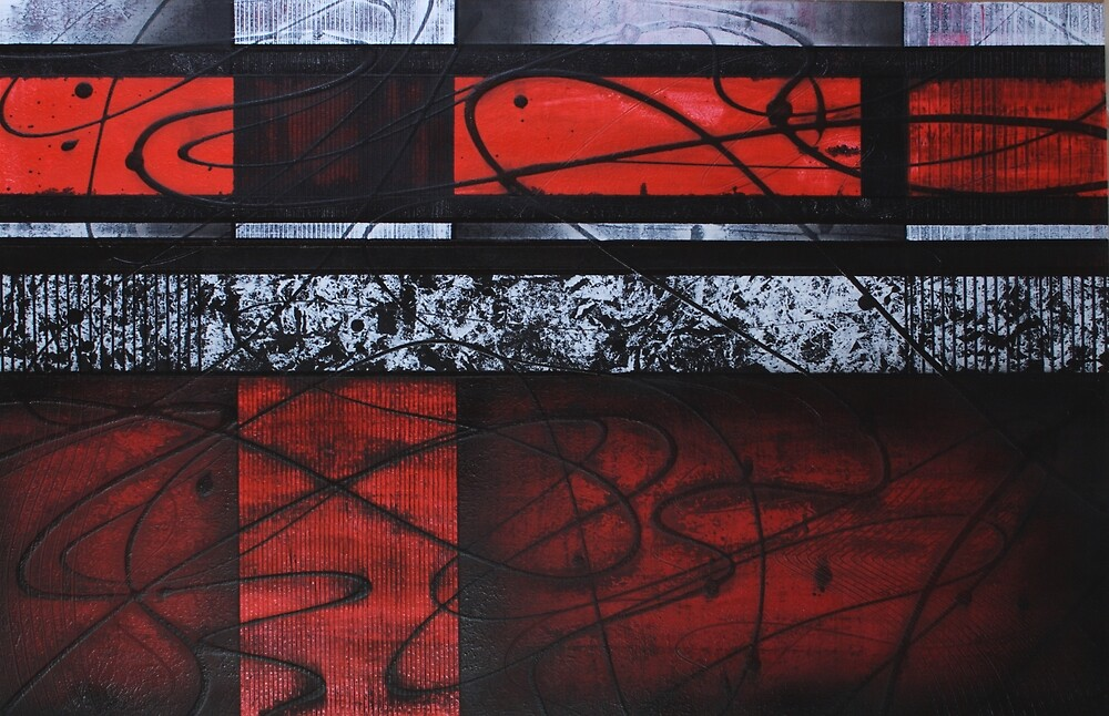 WAVES OF RED by artbygeorgemb