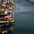 Colourful little fishing boats by Profo Folia