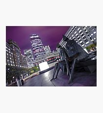 Cats Eye View of Canary Wharf Photographic Print