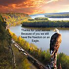 Thank You for your Service Eagle Domain by Randy Branham