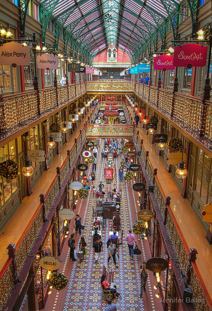 Strand Arcade, Sydney at Christmas Time by Jennifer Bailey