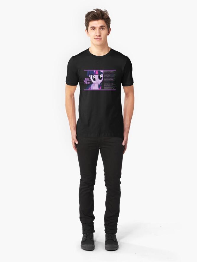 Vista alternativa de Camiseta ajustada ¿Qué más podría alguien pedir? (Chispa crepúsculo)