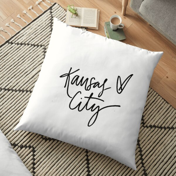 Kansas City Lettering Floor Pillow