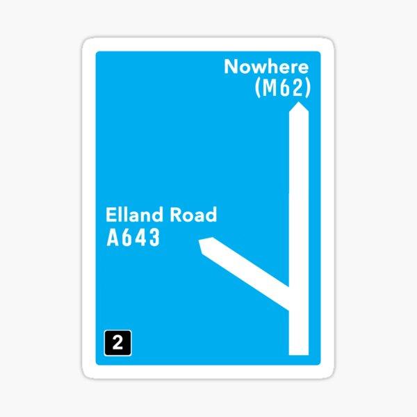Leeds United: Elland Road Motorway Sign Sticker