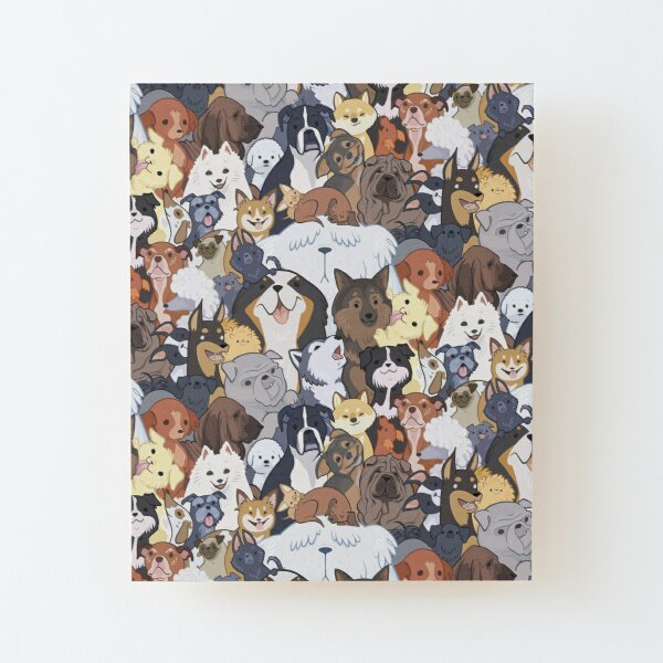 Pupper Party Wood Mounted Print